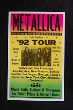 Metalica 1992  Enter Sandman Tour Poster