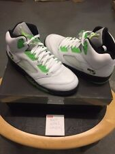 nike air jordan 5 quai 54 retro 2011 white/green   uk 9.5 usa 10.5    brand new
