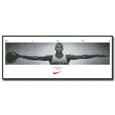 Michael Jordan Wings Super Basketball Star Art Silk Poster 13x36 inch