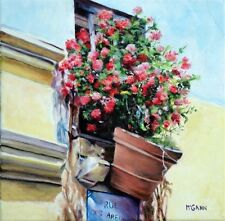 Original Oil Painting By Artist- Hanging Basket - 12 X 12 - $150