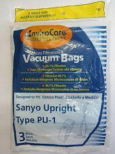 Sanyo Upright Type PU-1, SC-PU1: OBT Upright: A114, A115, U10MA, U122, U125 Bags