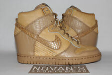 NIKE DUNK SKY HI SP UNDERCOVER 717122-200 Pale Shale Animal Liquid Gold Silver