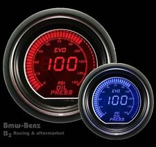 52mm Autogauge Digital LED Evo Electrical Oil Pressure Gauge Meter Red/Blue -PSI