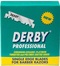 2 x 100 BLADES SINGLE EDGE DERBY EXTRA  PROFESSIONAL RAZOR BLADES (2 PACKS)