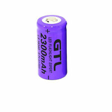 GTL 3.7V CR123A 16340 2300mAh Rechargeable Li-Ion Camera Flashlight Battery Cell