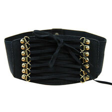 Fashion Women Elastic Buckle Wide Waistband Retro Corset Stretch Waist Belts