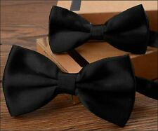 Combo pack of father and son's black bow tie, pre tied bow ties, b'day gift 00