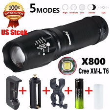 5000 Lumen 5Modes LED Zoom Flashlight Torch Military Lumitact Torch G700 X800 US