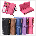 Fashion Women's Matte Card Wallet Button Clutch Purse Long Card Handbag Zip