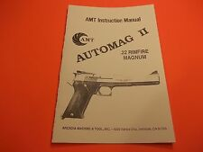 AMT .22 Mag AUTOMAG II  INSTRUCTION PISTOL MANUAL