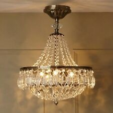 BHS ESTELLE IVORY GOLD CRYSTAL ART DECO STYLE CHANDELIER