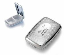PERSONALIZED CUSTOM SILVER PILL CASE BOX NAME ENGRAVED FREE CUSTOMIZED