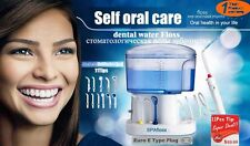 Dental Floss Water Jet Oral and Nasal Irrigator Waterflosser Teeth Cleaner+Tips