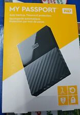 WD My Passport 1TB Portable Hard Drive USB 3.0 Black NEW