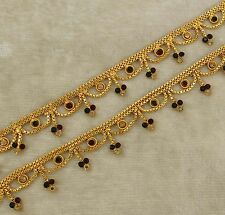 Designer Indian Goldplated Anklet Traditional Ethnic Ankle Bracelet Jewelry