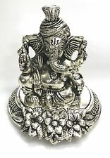 GANESH MURTI ANTIQUE METAL STATUE HOME HINDU IDOL MURTI MANDIR