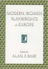 Modern Women Playwrights of Europe (2000, Paperback)