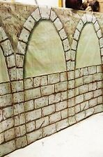 15 ft x 6 ft Stone Wall Scene Setter Castle Dungeon Tombs Home Halloween Decor