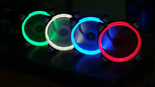 OKER Halo LED 120mm 12cm LED ULTRA SILENT CHASSIS CASE FAN - 1200RPM - 4 Colors!