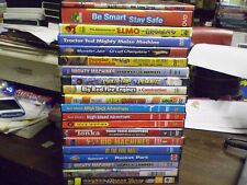 (20) Childrens Boys Learning Adventure DVD Lot: Elmo Real Wheels Mighty Machines