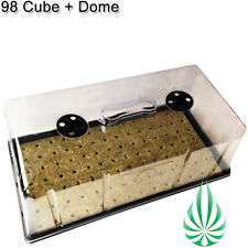 HYDROPONICS SEED CLONING WATER TRAY DOME WITH 98 CELLS GROW CUBE