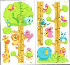 Bear In Tree Animals Height Growth Chart Children's Nursery Wall Art Stickers