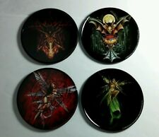 ALCHEMY FAIRY BAT DEVIL SET OF 4 CORK BOTTOMED COASTERS COASTER TIN NEW AS-IS