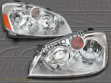 FIT 05-06 Altima Crystal Chrome Headlights LH RH Assembly+Amber Reflector