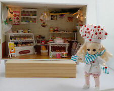 FREE AI  Doll & Dollhouse Miniature DIY KIT, Happy Bakery w/music box, #13801A