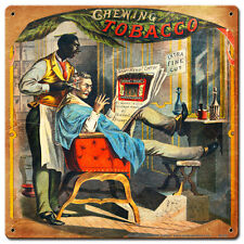 Barber Shop Greenback Tabacco Tabak Werbung USA Retro Sign Blechschild Schild