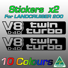 V8 D4D Twin Turbo stickers decals for Toyota Land Cruiser 200