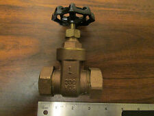 Smith-Cooper Brass Gate Valve 200 W0G With End Fittings NOS