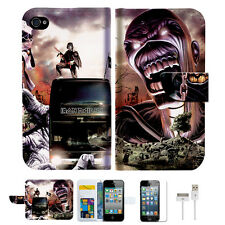 Iron Maiden Wallet Case Cover For Apple iPhone 4 4S -- A014