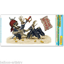 Pirate Party Scene Setter Add-on Prop Wall Decoration - Pirate Skeleton Dead
