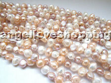 """genuine frehswater pearl necklace 48""""  opera necklace nature baroque 7-8mm"""