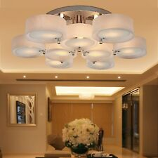 Modern Round Acrylic Chandelier Light Pendant 9 Lights Ceiling Fixture Chrome