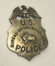 Reproduced US Bureau of Indian Affairs Police Badge    eagle 'n bison