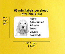 Italian Spinone Dog Personalised Mini Address Labels, Stickers