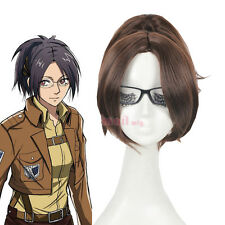 USA Ship Attack on Titan hanji.zoe Brown Clip on Ponytail Cosplay Full Wig ZY60
