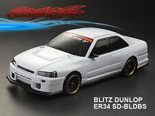 1/10 Blitz Dunlop ER34 SD-BLDBS 195mm RC Car Transparent Body