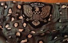 "Men's Akoo Brand Tan Leopard Print Jeans ""Exclusive"" & Rare - EUC Size 38"