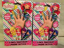 Strawberry Shortcake 5 Piece Temporary Finger Tattoos Set lot Of 2-kids girls