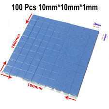 100x CPU Thermal Pad Heatsink Cooling Conductive Silicone 10mm*10mm*1mm