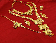 Traditional Indian Ethnic Goldplated Necklace Earring Set Women Wedding Jewelry
