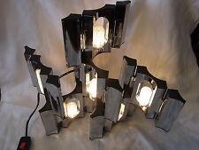 Mid Century 70er Tisch Lampe Licht Objekt Steck System 6 Teile # 2