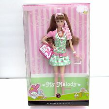 My Melody Barbie Barbie Doll By Sanrio Pink Label 2008 NRFB