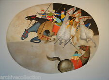 """Graciela  Rodo Boulanger """"Polo III"""" Etching Artwork"""