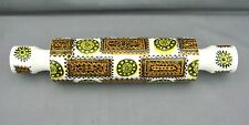 I broke it just as I was listing it!! Rare Portmeirion Talisman Rolling Pin.