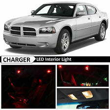 10x Red Interior LED Lights Package Kit for 2006-2010 Dodge Charger