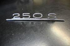Mercedes Benz 250S W108 Emblem Typenschild Heckklappe Chrom Oldtimer